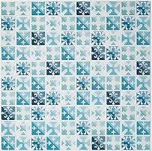 Ecoart Fliesen-Aufkleber, abziehbar, Mosaik, 25,4