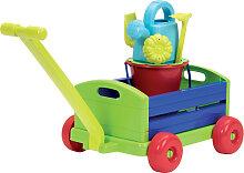 Ecoiffier Bunter Bollerwagen mit 6-teiligem Zubehör [Kinderspielzeug]
