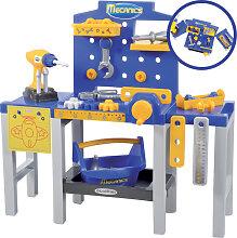 Ecoiffier Mecanics Mini Werkbank (Blau-Gelb) [Kinderspielzeug]