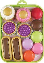 Ecoiffier Tablett mit bunten Süßwaren