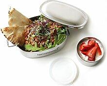 ECOlunchbox Oval, 2-teilige Brotdose aus Edelstahl