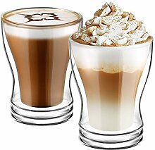 Ecooe Doppelwandige Cappuccino Tassen Glaser Latte