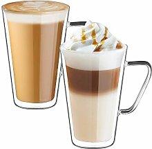 ecooe Doppelwandige Latte Macchiato Glaser Set