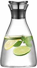 Ecooe Glaskrug 1,5 Liter Glaskaraffe Wasserkrug