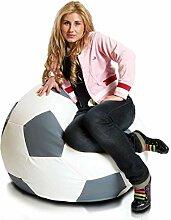 Ecopuf Fußball M Sitzsack aus Ecoleder –