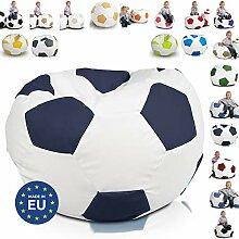Ecopuf Fußball S Sitzsack aus Ecoleder –