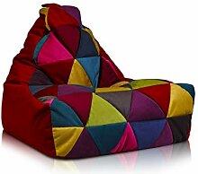 Ecopuf Keiko S Patchwork Sitzsack aus Mikrofaser -