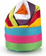 Ecopuf Sitzsack L Streifen - Outdoor und Indoor