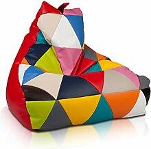 Ecopuf Sitzsack Patchwork Keiko S Mix - Indoor