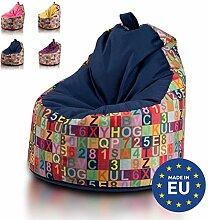 Ecopuf Yoko Sitzsack Modern - Plüsch-Bean-Bag aus