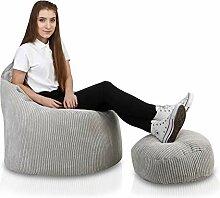 Ecopuf Yoko Sitzsack Velvet mit Fusshocker -