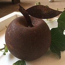 ecosoul Gartendeko Apfel rund Metall Rost Deko