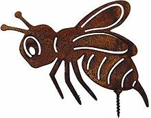 ecosoul Gartendeko Biene mit Dorn Schraube zum