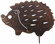 ecosoul Gartendeko Igel mit Dorn Baumtier Metall