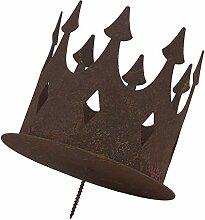 ecosoul Gartendeko Kerzenhalter Krone mit Dorn zum