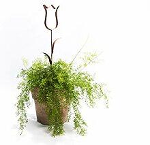 ecosoul Gartendeko Stecker Tulpe mit 2 Blättern