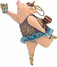 ecosoul Schwein Schweinchen Ballerina Figur Deko