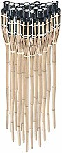 Ectxo 18 x Bambusfackel Gartenfackel Bambus Fackel