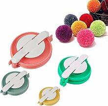 ECYC® 4 stücke Pompom Maker Flusen Ball Weber