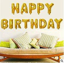 ECYC® Gold Aluminiumfolie Brief Ballons Geburtstagsfeier Dekoration Feier