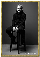Ed Sheeran schwarz & weiß Plakat Kork Pinn