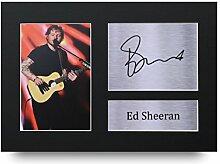 Ed Sheeran Signiert A4gedrucktem Autogramm Musik Druck Foto Bild Display–tolle Geschenkidee