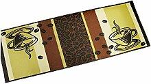 EDAHB® Küchenteppich mit Unterseite dekorativ,