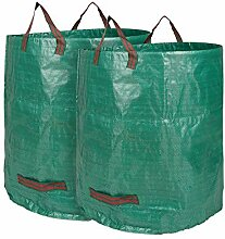 Edaygo Gartenabfallsack Laubsack Gartensack aus Polypropylen-Gewebe 272 Liter PP