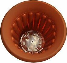 edco 40x 30cm rund Kunststoff Polyresin Blumentopf–orange