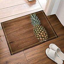 EdCott Ananas auf Holz Bad Teppiche Rutschfeste