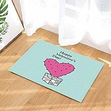 EdCott Geschenk-Badteppiche des Valentinsgrußes