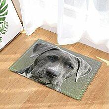EdCott Hundeliebhaber Dekor Grau Dog Gazes die