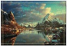 EdCott Natürliche Landschaft Dekor Schnee Berg
