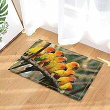 EdCott Papagei Dekor Papageien auf Holz in der