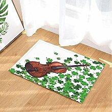 EdCott Pflanzenmuster Bad Teppiche aus Holz