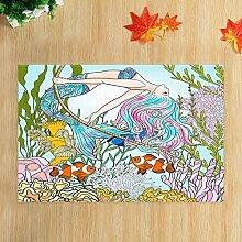 EdCott Unterwasserwelt Meerjungfrau und Tropische