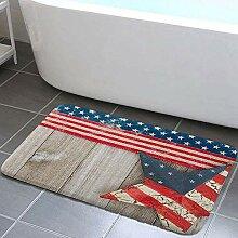 EdCott Vintage Western American Flag Bad Teppiche