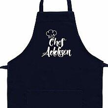 Eddany Apron Chef Addison Vintage Embroidery