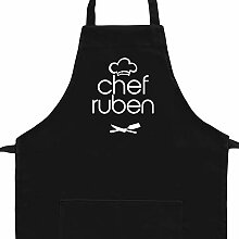 Eddany Apron Chef Ruben Kitchen Utensils Stickerei