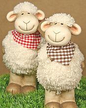 EDDY & JOE Lustige Schaf Figuren mit Wollpelz, 2er