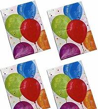 Eddy Toys 4x Party-Tischdecke Luftballons