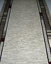 Edel Läufer Casa Meterware Breite 100 x L/ 340 cm Creme Bordüre