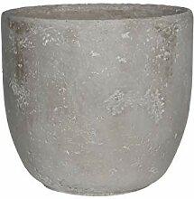 Edelman Blumenkübel aus Keramik in Grau,