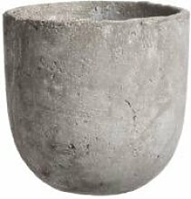 Edelman Blumenkübel Keramik grau, Blumentopf in