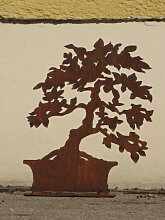 Edelrost Bonsai breit, 35 cm