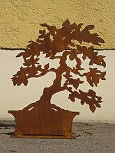 Edelrost Bonsai breit, 55 cm