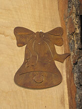Edelrost Christbaumschmuck Glocke