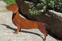 Edelrost Dackel Benji 3D 47 x 27 cm Hund Tierfigur