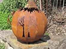 Edelrost Dekokugel Baum, mittlere Ausführung