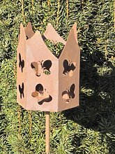 Edelrost Fackel Schmetterlinge inkl. Wachsrolle